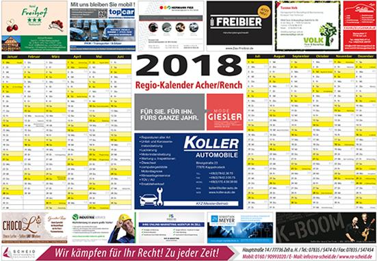 Regiokalender - RegioKalender 2018 – Acher-Rench