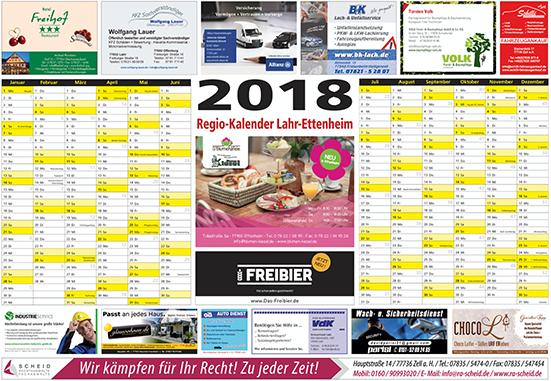 Regiokalender - RegioKalender 2018 – Lahr